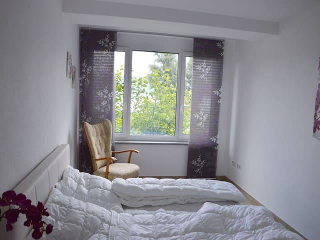 Bodenseeresidenz-Bodmann, (Bodman-Ludwigshafen), Ferienwohnung Aachhorn, 65qm, 2 Schlafzimmer, max.5 Personen
