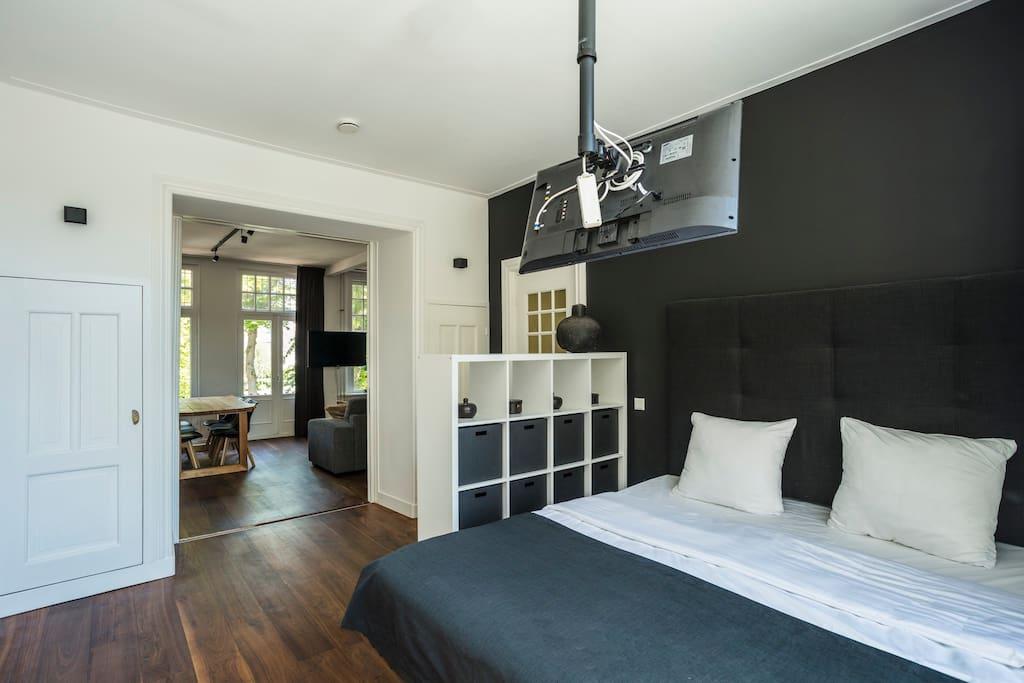 Bedroom behind authentic doors