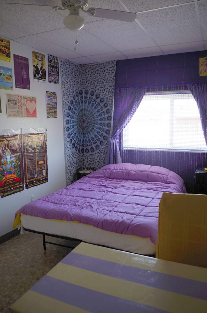 Purple Room is a comfy space & 420 weed friendly!