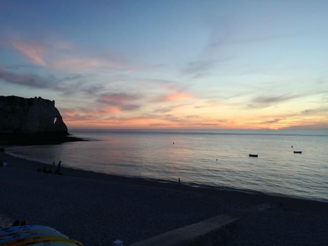 Maison vue sur mer, 50 m de la plage
