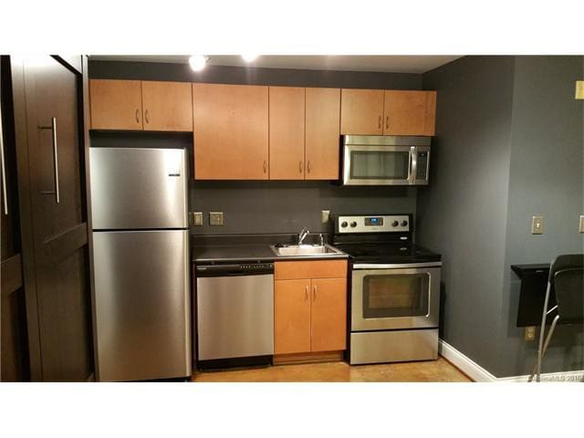 Kitchen fully furnished - oven, microwave, refrigerator, dishwasher