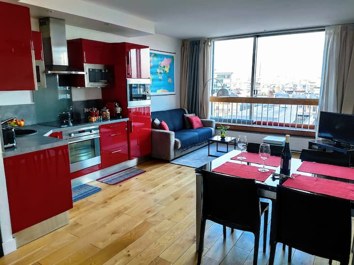 50m2 flat, near Eiffel Tower, pool on the roof