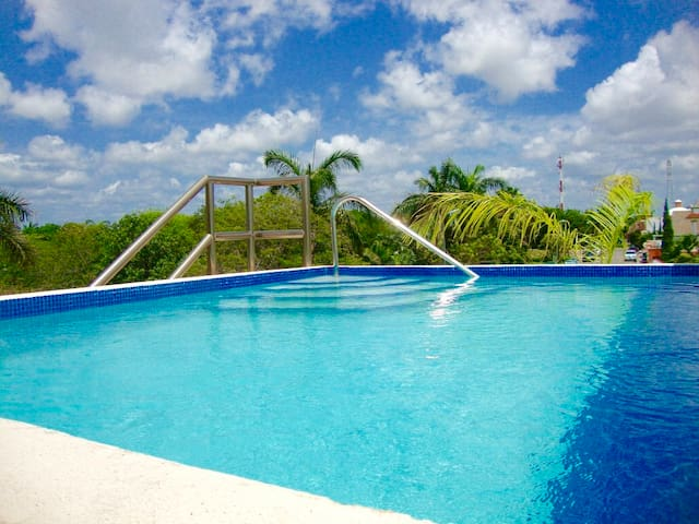 Gorgeous house with private roof top pool & palapa