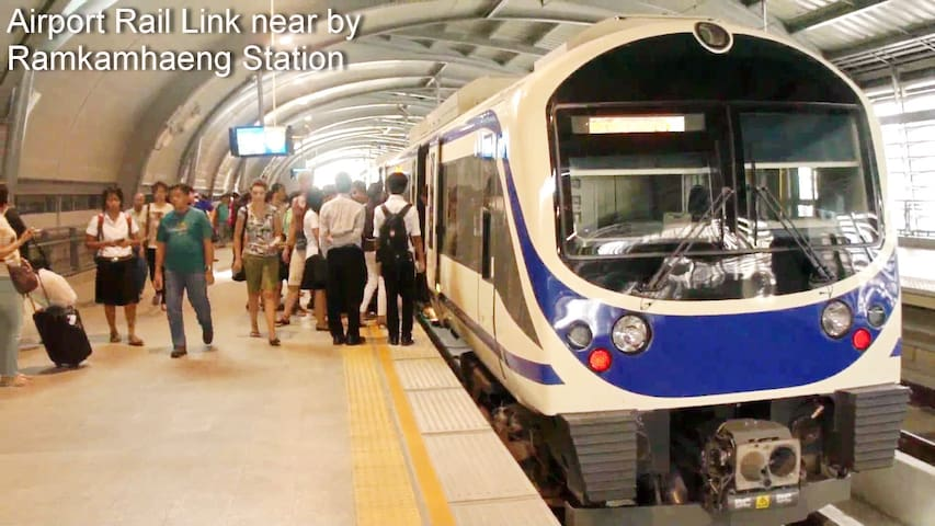 From BKK Airport, you can take Airport Rail Link to Ramkhamhaeng Station for just 30 Baht ($0.85) and take a short taxi ride to my place.