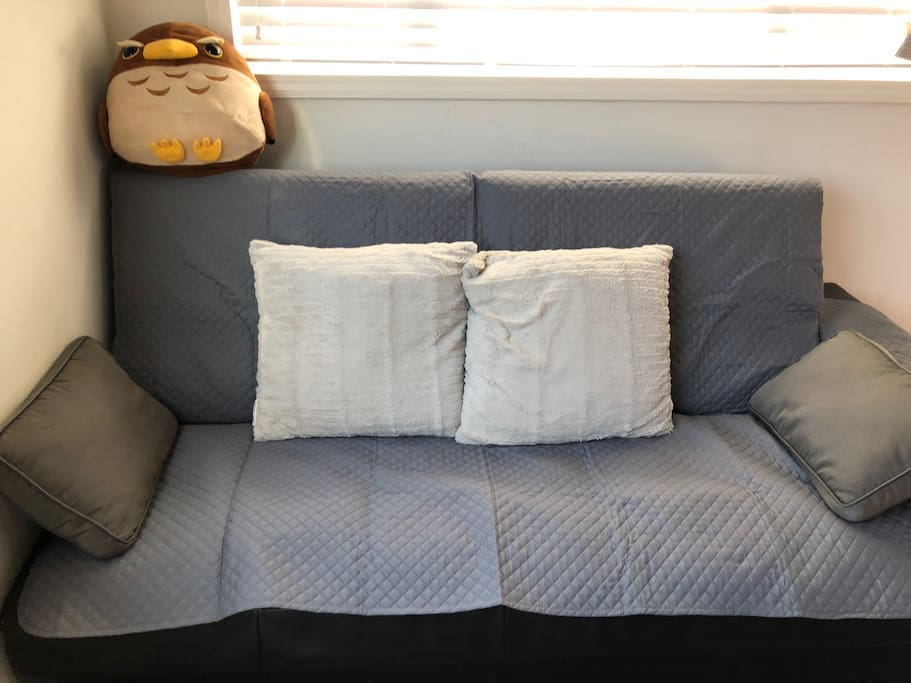 Sofa with new slipcover