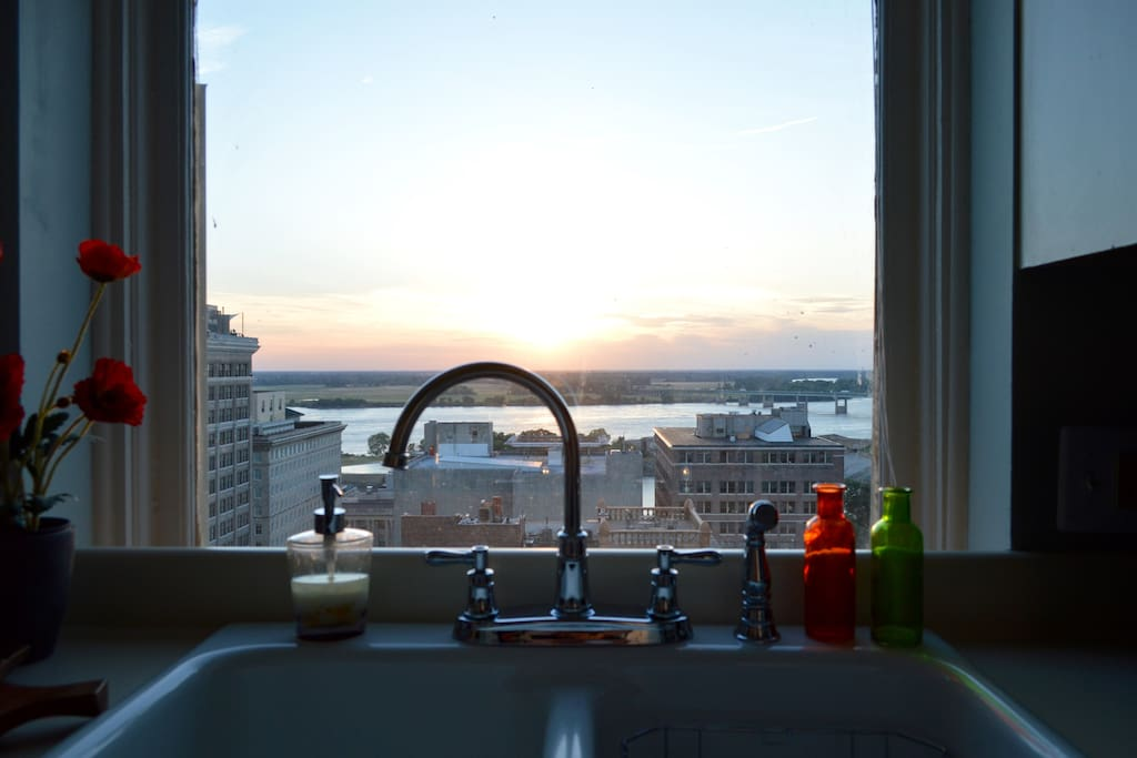 Never thought I would enjoy washing the dishes, but look at this view!