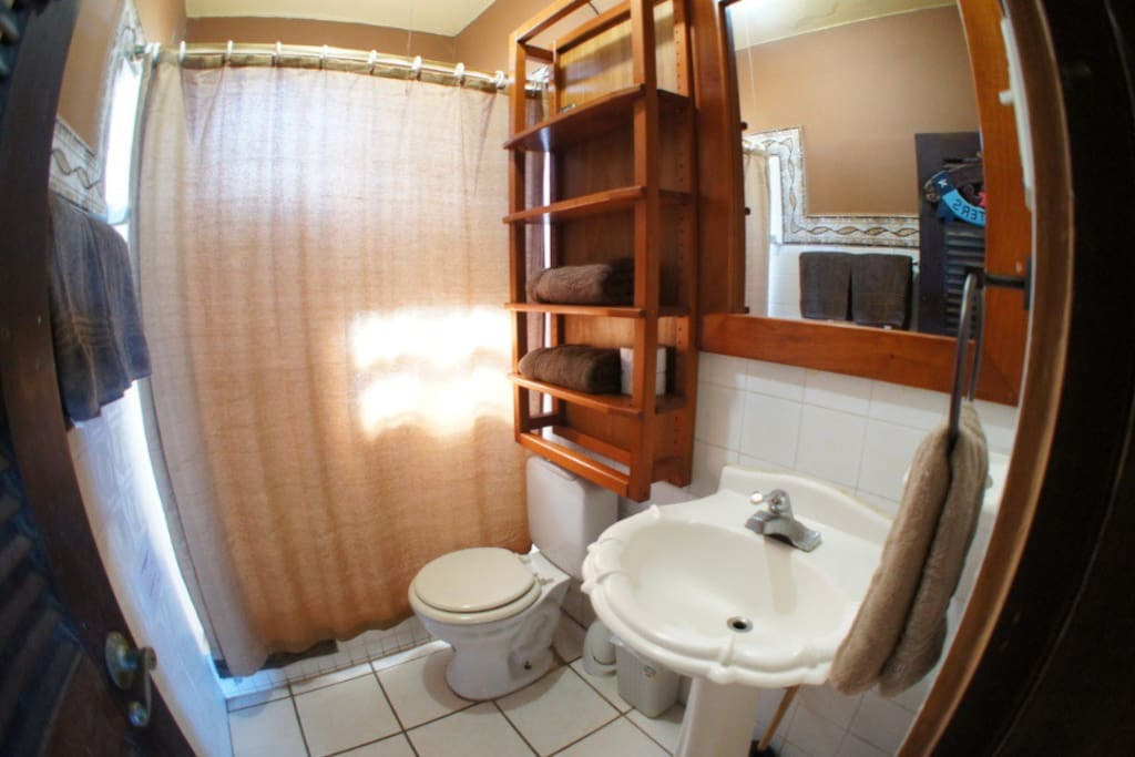 Your bathroom, hot water, hair dryer