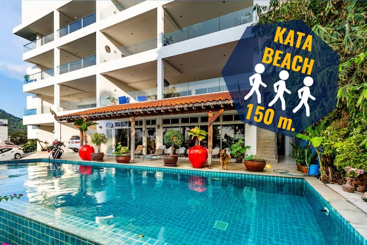 ✅80 sqm apartment 3 min walk to the beach! Cheap