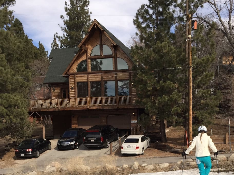 Front of the house from the ski run.