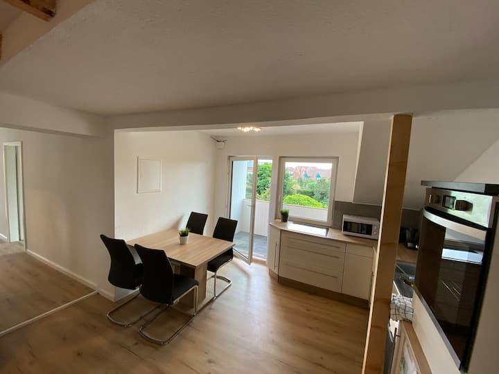 Moderne Wohnung mit Balkon im Zentrum von Lathen