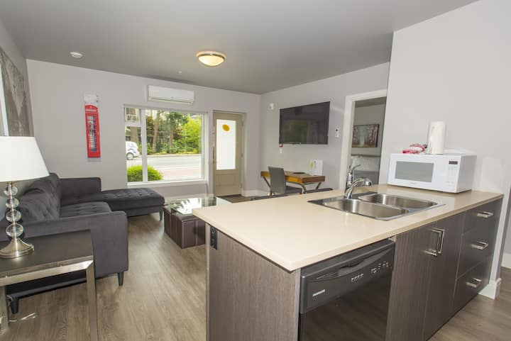 Modern Spacious 2BR Family Suite - Parking and A/C