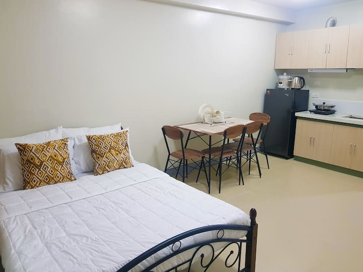 Fully-furnished studio-type condo unit