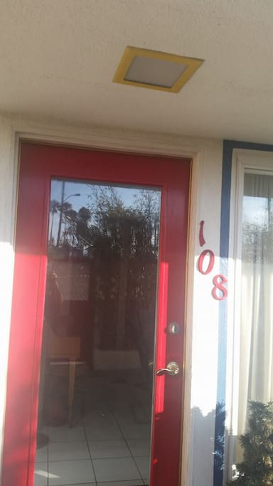 Front door of downstairs duplex