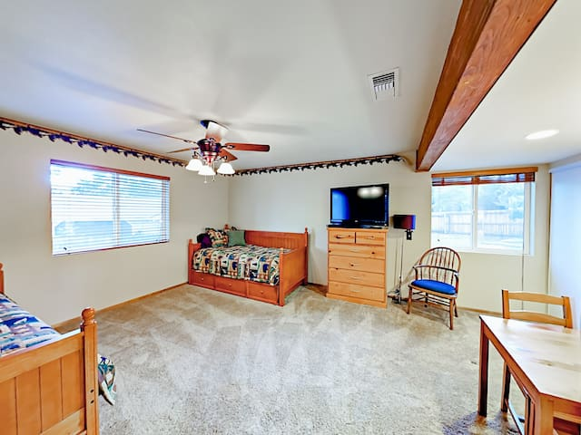 The 3rd bedroom has plenty of space for the kids.