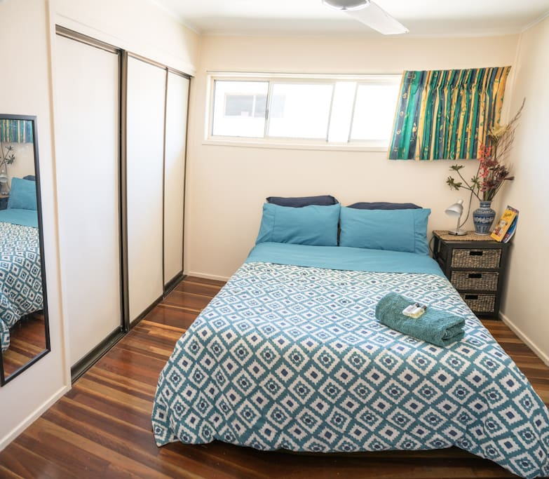 One of two bedrooms ... air conditioned