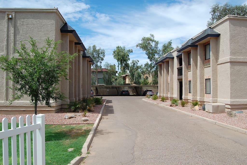 Enclosed private complex