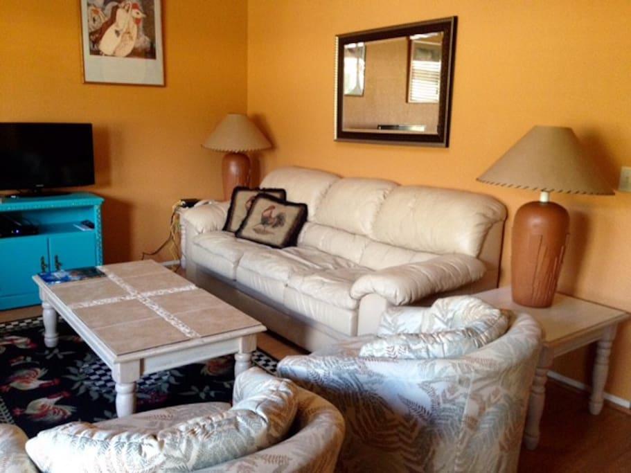 Large comfy living room
