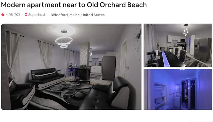 Modern apartment near to Old Orchard Beach