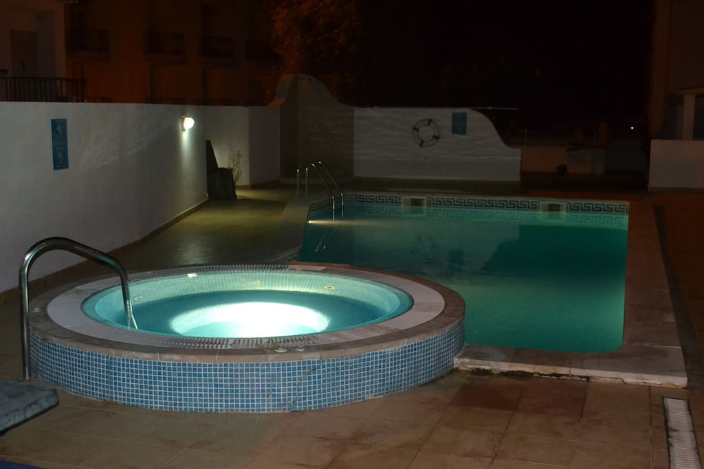 Pool lit and available until 12.00am