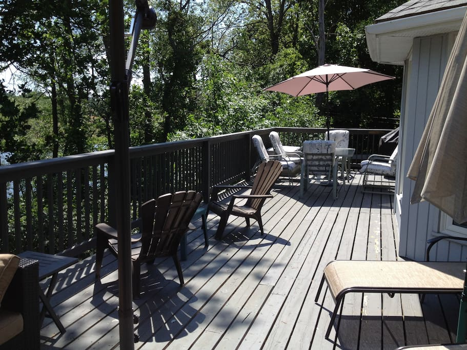 The deck from the lounge area.