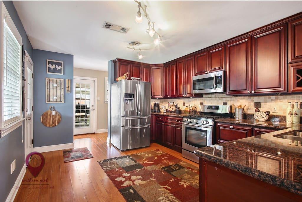 Larger Open Kitchen!