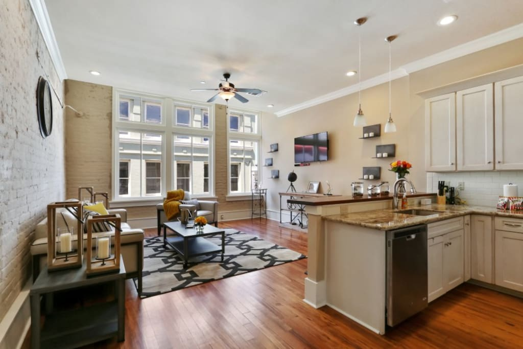 Open floor plan with great space to entertain