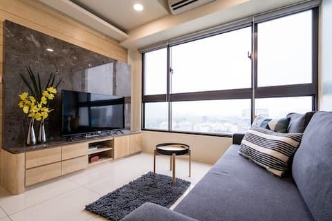 سكة حديد كاوهسيونج زوينج عالية السرعة في تايوان ، خط دينجكسبرس ، جبل فوجوانج ، سوق رويفينج الليلي ، الوصول المباشر إلى المطار/4-7 غرفة الأشخاص 03