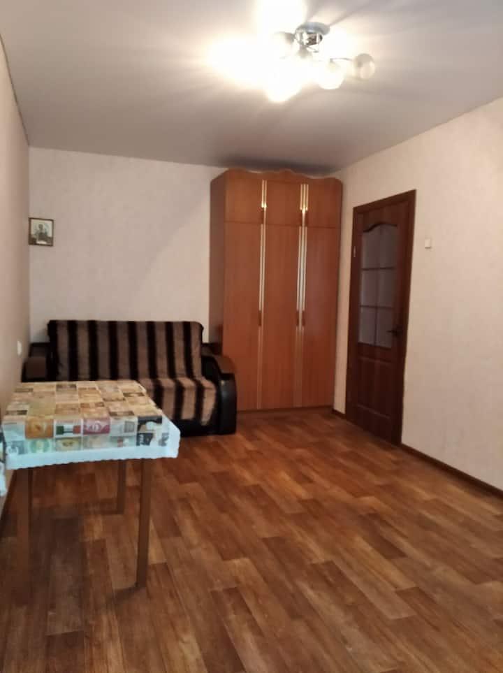 Уютная квартира с балконом и турником