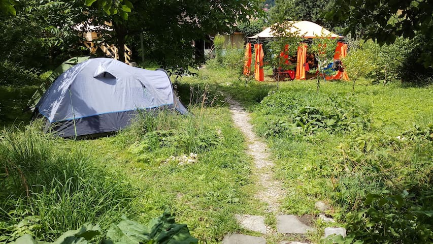 "Garden Camping in the City Center @""Mountain Tale"""