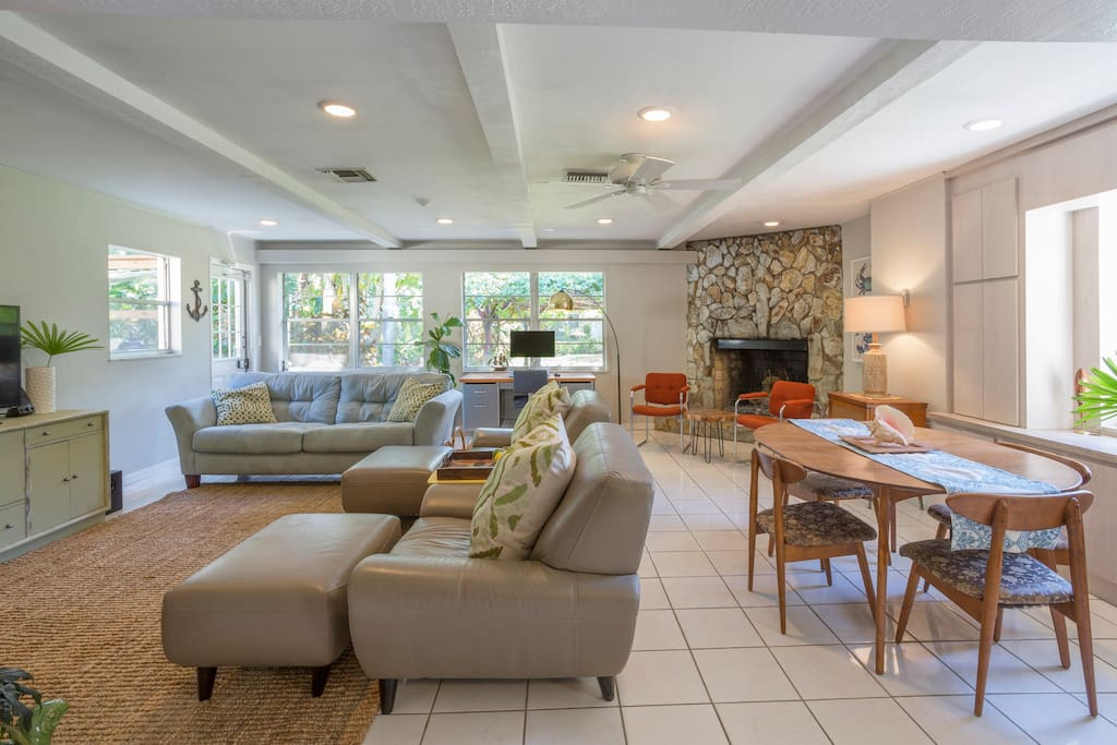 Spacious 800 square foot open concept floor plan.