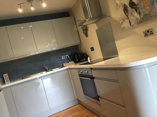 Fully equipped kitchen with induction hob