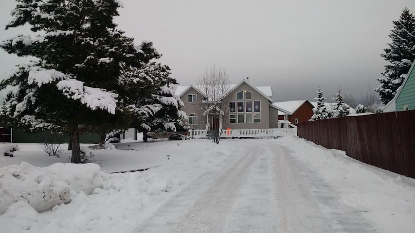 Winter is here!  Hooray!  Driveway is plowed and ready for your arrival.