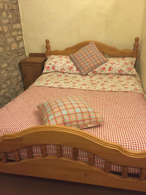 Lovely room in our delightful country house. Double and single beds. Plenty of storage space. Own bathroom with toiletries.