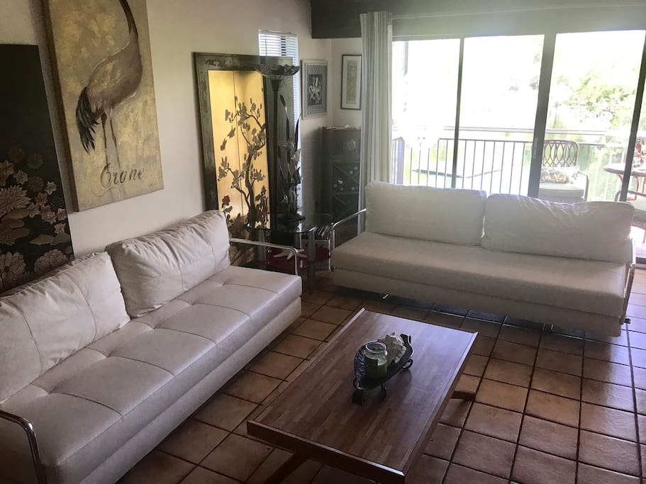 Living room with 2 futons