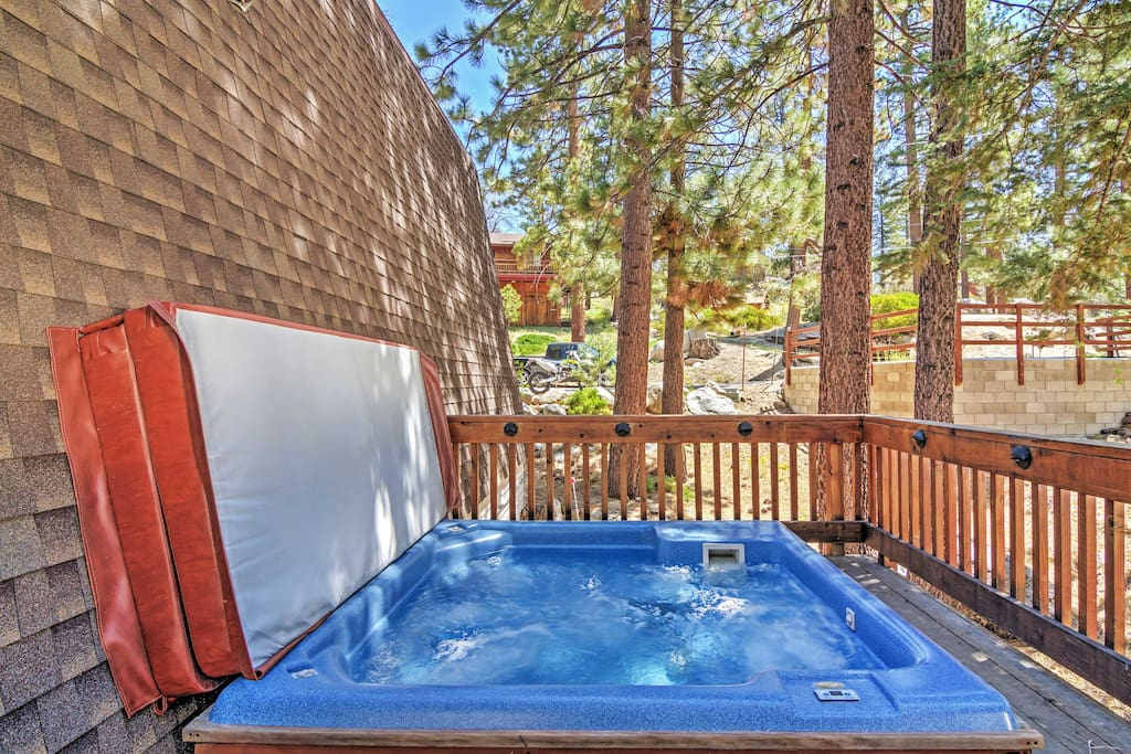 You'll even have a private hot tub to enjoy during your stay!