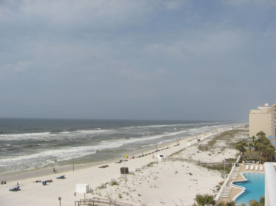 View of beach and Gulf from balcony!
