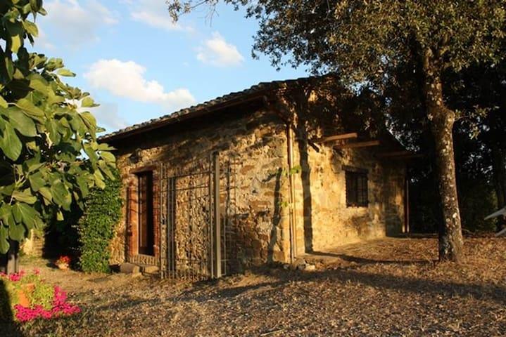 Kleines Zauberhäuschen auf Chiantihügel bei Siena - Pievasciata - Hus