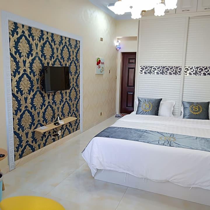 奥林匹克公园附近光宇盛世华城欧式风格大床房
