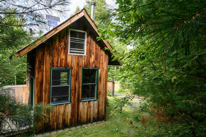 Tiny Off Grid House in the Vermont woods.
