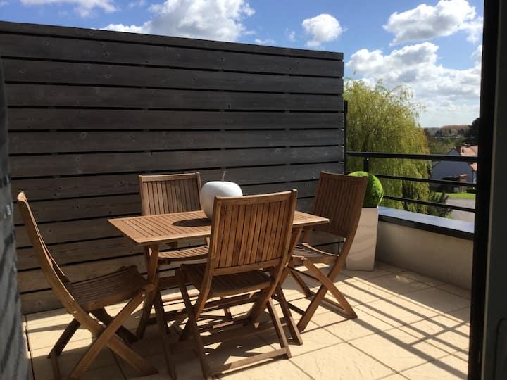 Appartement de standing   Avec terrasse. 2/3 pers