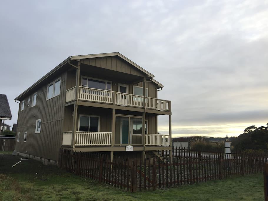 Two enclosed decks to enjoy watching the sunset from.