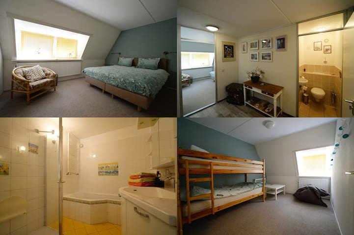 Two private rooms first floor in Hilversum South