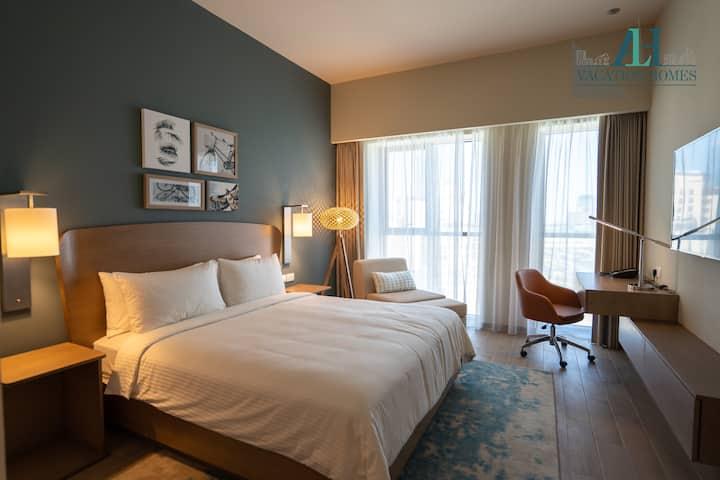Al Jaddaf - Dubai Luxury-Studio Serviced Apartment