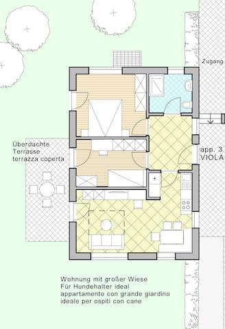 Grundriss der Wohnung VIOLA