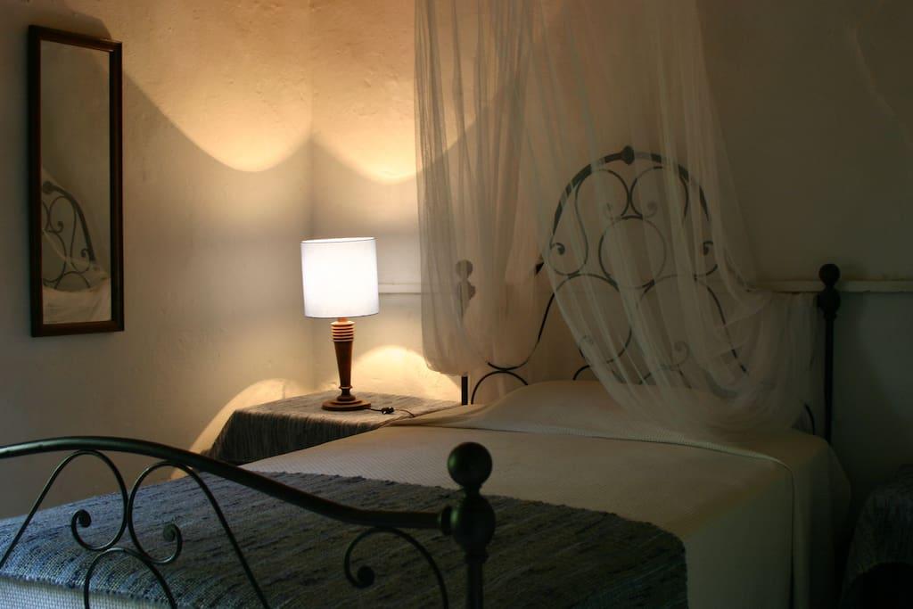 Il letto in ferro battuto