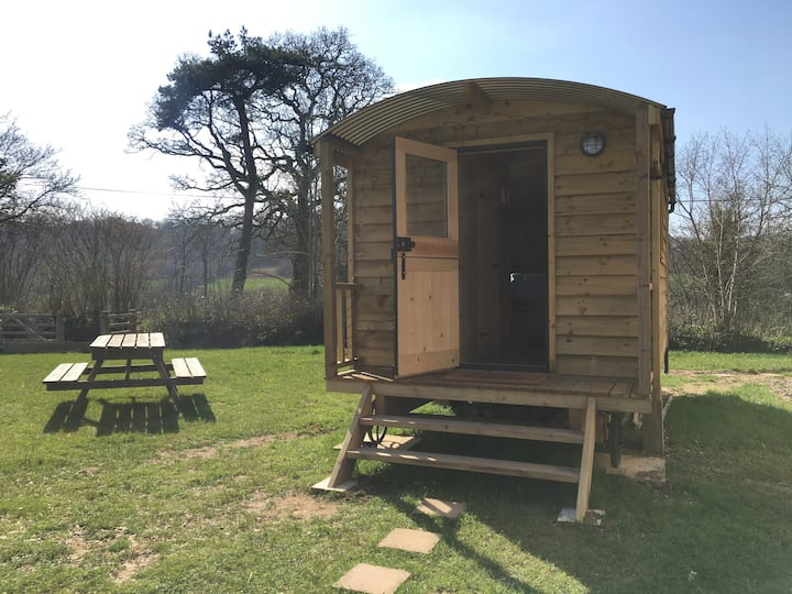 Shepherd's Hut in the Blackdown Hills, Devon