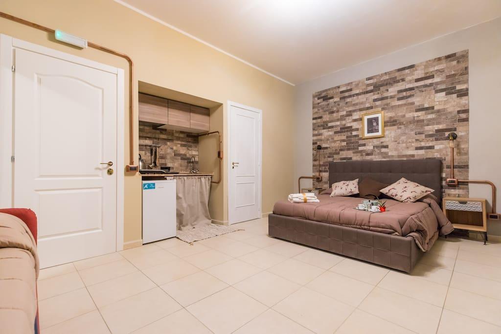 cucina e camera