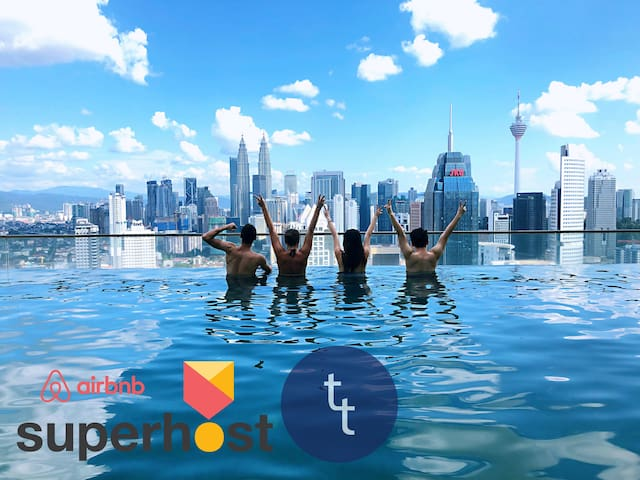 T8 KL City Blue Sea studio - KLCC infinity Pool