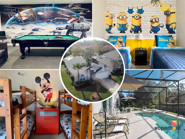 Disney Villa Large 5bdr/Private Pool/Spa/Game Room