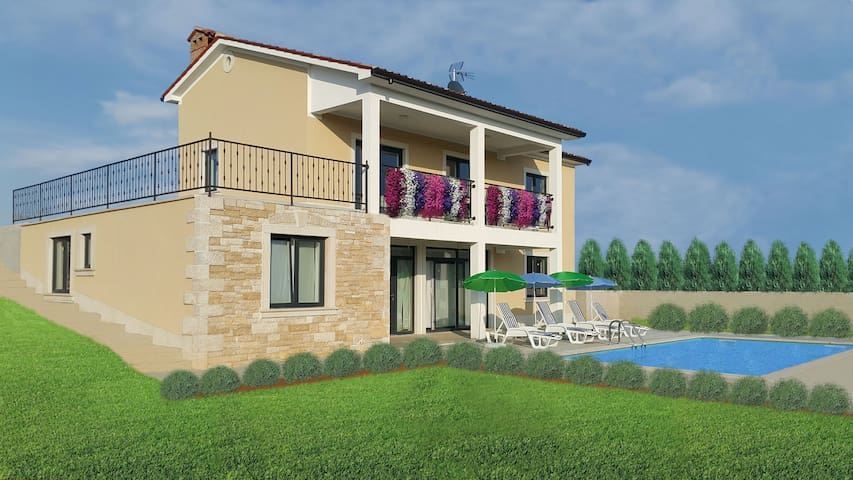 "House ""Villa Danica"" with pool in Istria - Bašići - บ้าน"